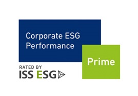 Logo of ISS ESG's Corporate ESG Performance Award