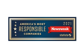 Logo of Newsweek's America's 2021 Most Responsible Companies Award